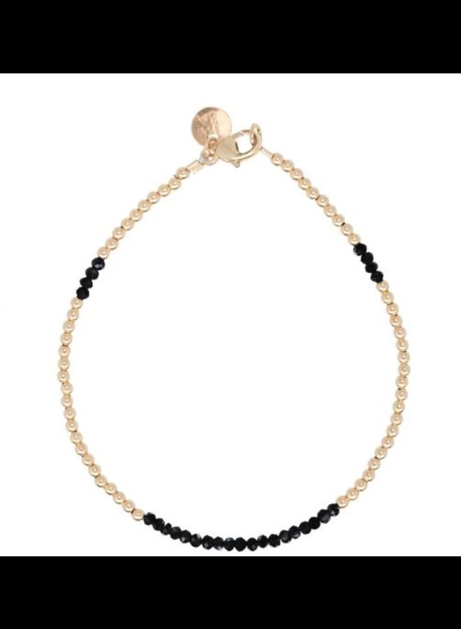 Miab armband goud - Black
