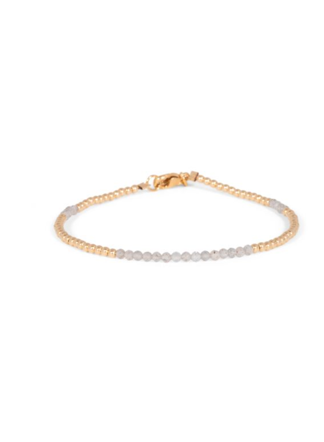 Miab armband goud - Labradoriet