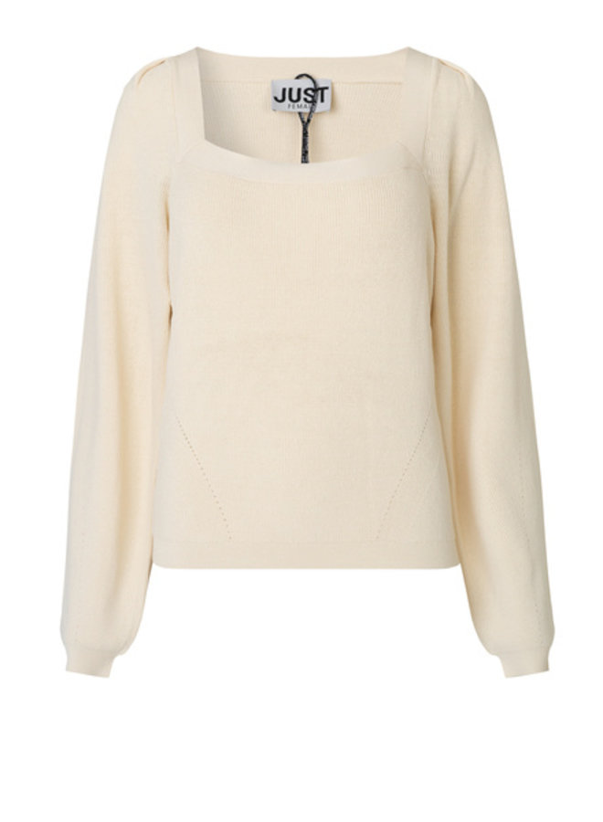 Just Female Fave Blouse Off White