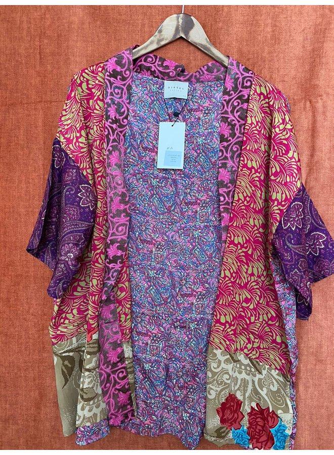 Sissel Edelbo Lotus Short Kimono Mix Nr. 80