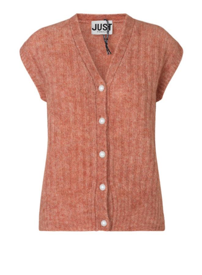 Just Female Lytt Knit Vest Ginger Spice