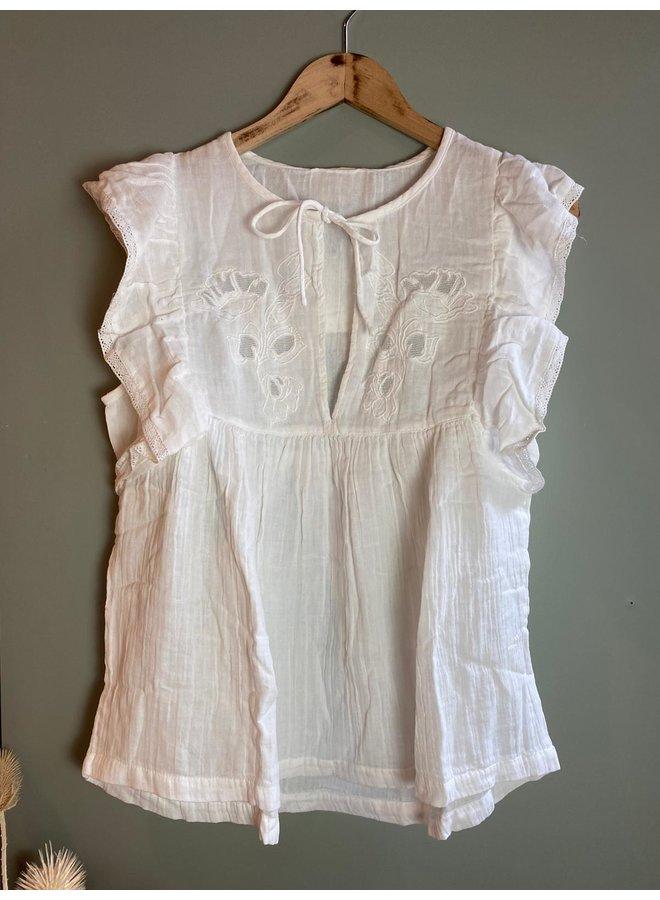 Sissel Edelbo Naomi Organic Cotton Top White