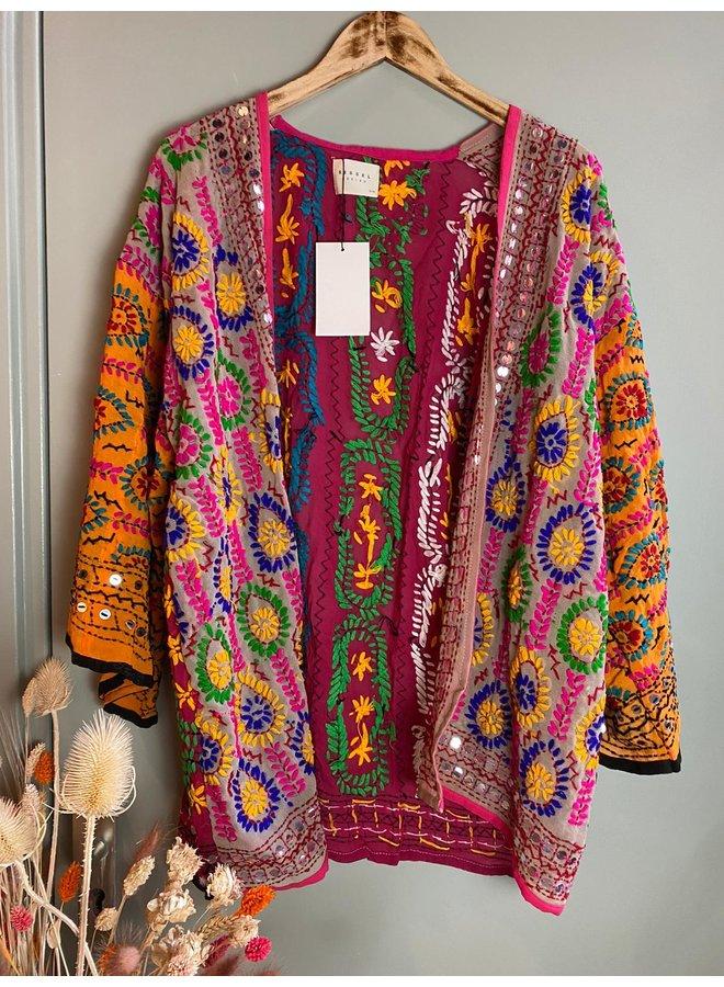 Sissel Edelbo Chennai Embroidery Short Kimono nr. 2
