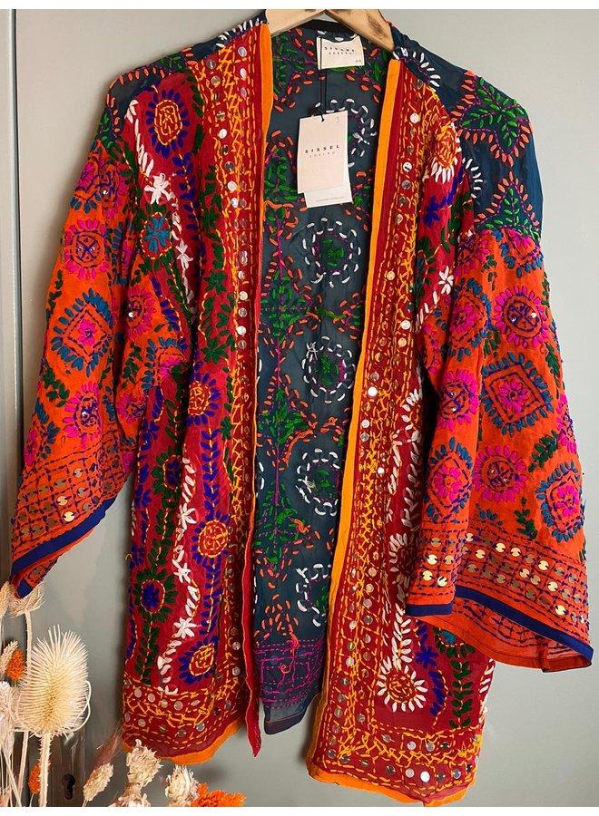 Sissel Edelbo Chennai Embroidery Short Kimono nr. 3