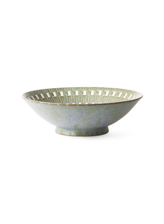 HK Living Kyoto Ceramics - Japanese Ceramic Salad Bowl