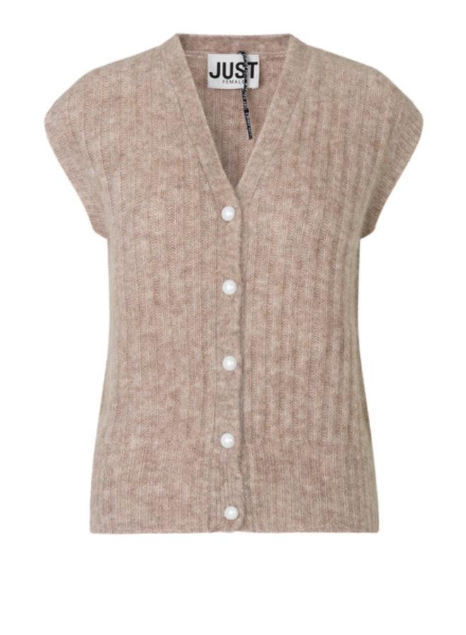 Just Female Lytt Knit Vest Taupe