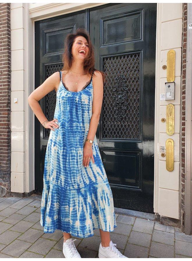 Sissel Edelbo Delhi Organic Cotton Tie Strap Dress - Blue One Size