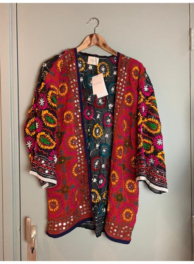 Sissel Edelbo Chennai Embroidery Short Kimono nr. 15