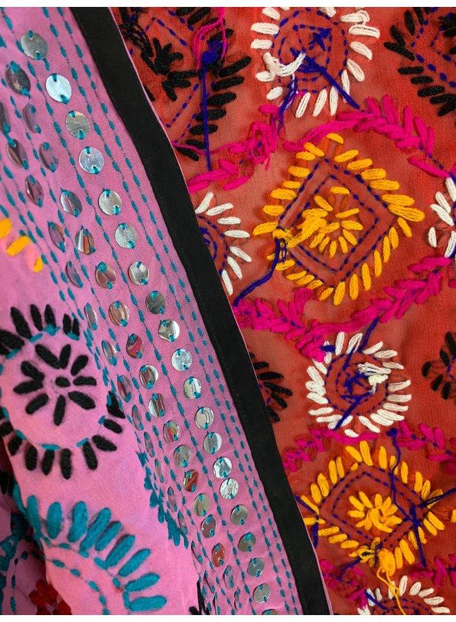 Sissel Edelbo Chennai Embroidery Short Kimono nr. 20