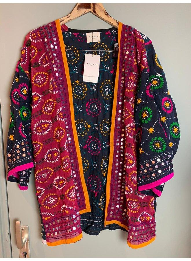 Sissel Edelbo Chennai Embroidery Short Kimono nr. 8