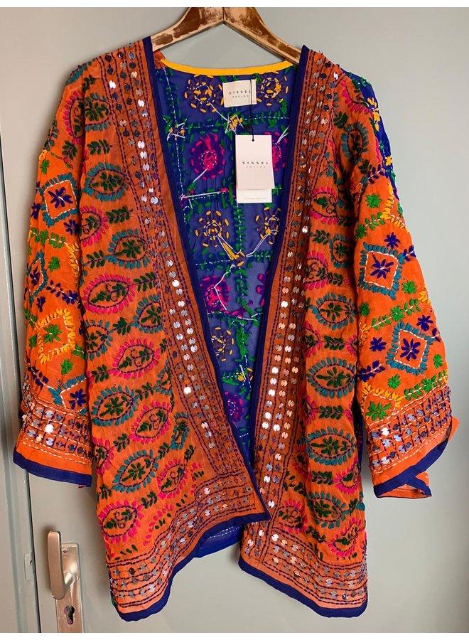 Sissel Edelbo Chennai Embroidery Short Kimono nr. 10