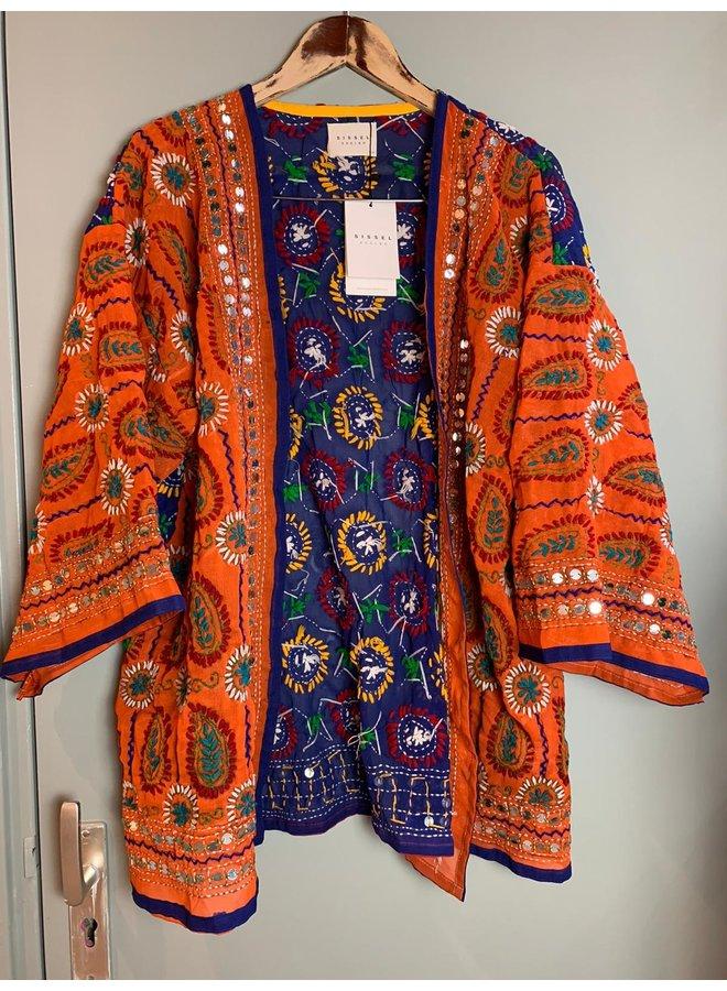 Sissel Edelbo Chennai Embroidery Short Kimono nr. 16