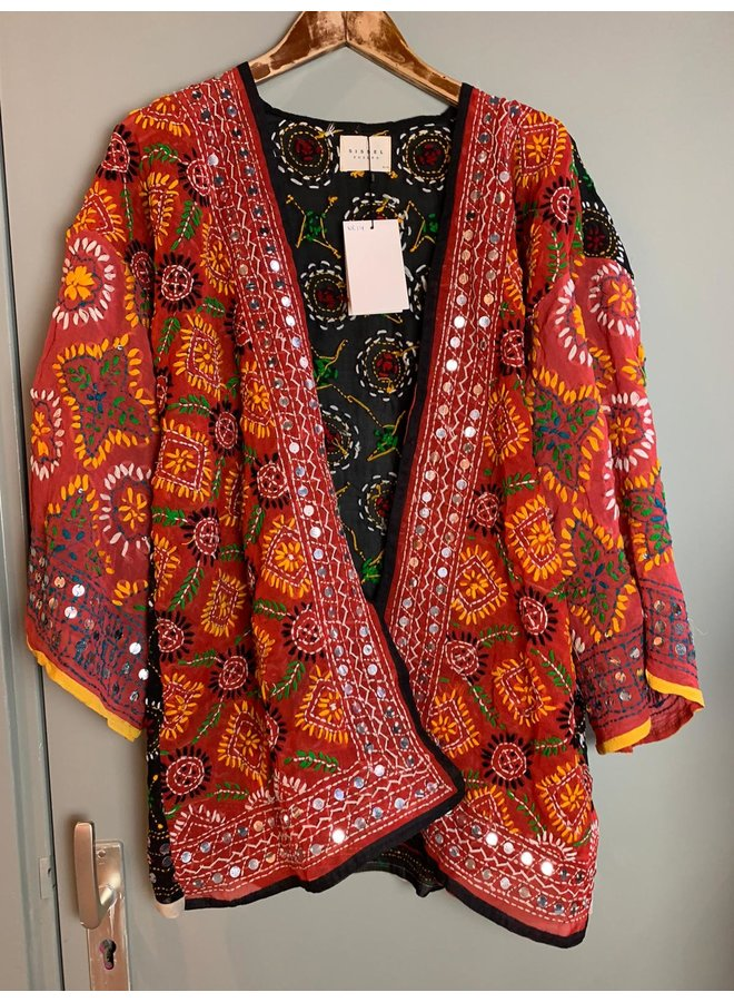 Sissel Edelbo Chennai Embroidery Short Kimono nr. 14