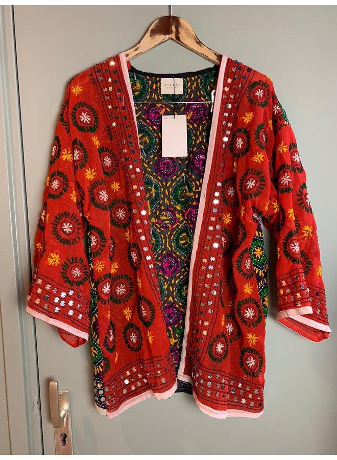 Sissel Edelbo Chennai Embroidery Short Kimono nr. 13