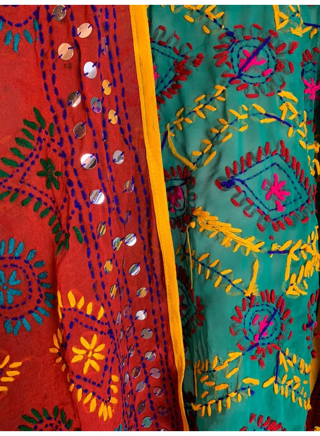 Sissel Edelbo Chennai Embroidery Short Kimono nr. 12