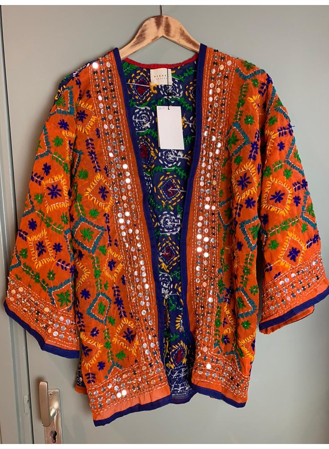 Sissel Edelbo Chennai Embroidery Short Kimono nr. 18