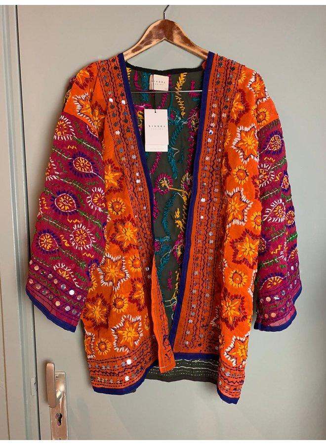 Sissel Edelbo Chennai Embroidery Short Kimono nr. 22