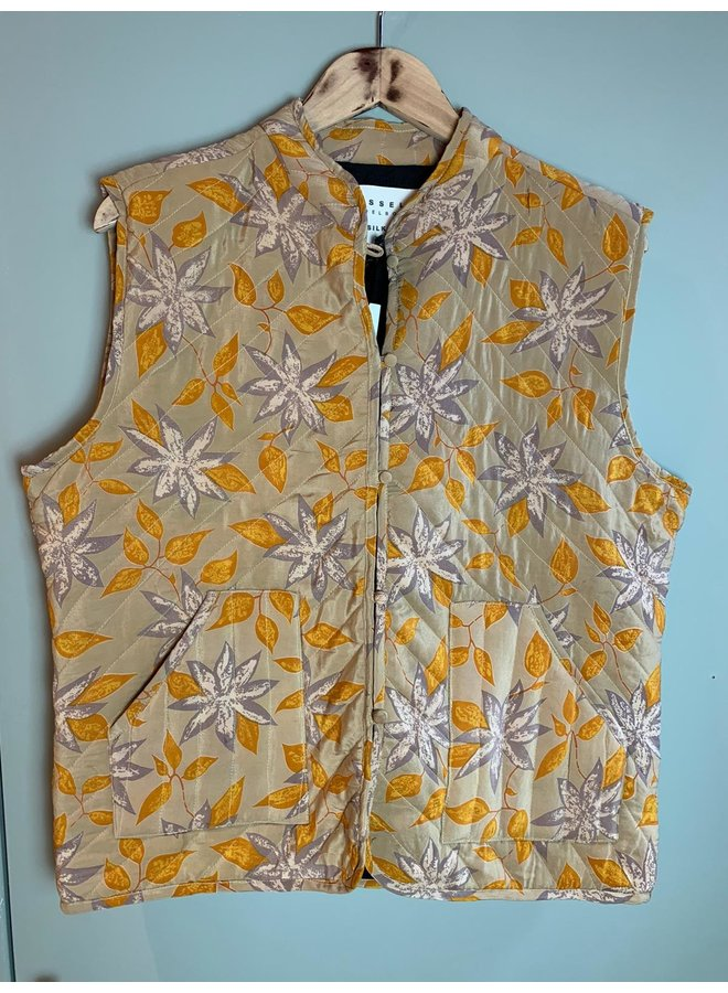 Sissel Edelbo Milla Quilted Silk Waistcoat nr. 59 M/L
