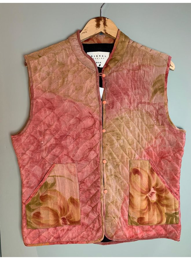 Sissel Edelbo Milla Quilted Silk Waistcoat nr. 60 S/M