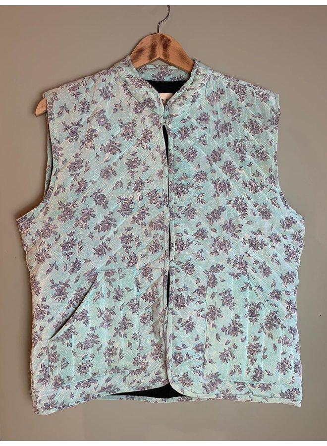 Sissel Edelbo Milla Quilted Silk Waistcoat nr. 61 S/M