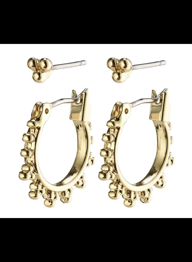 Pilgrim Kate Earrings Gold Plated