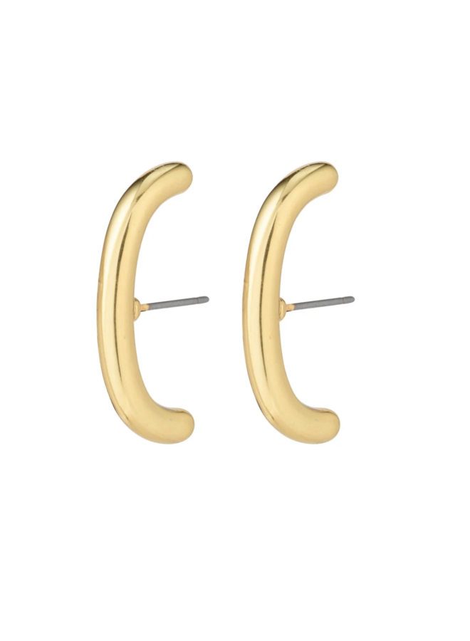 Pilgrim Clarity Half Hoops Earrings Gold Plated