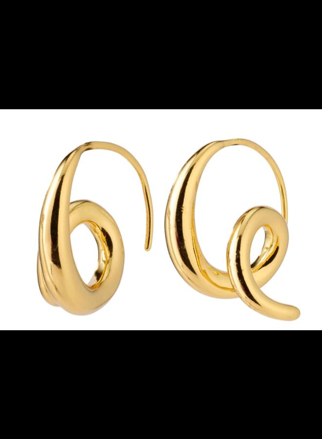 Pilgrim Angel Spiral Earrrings Gold Plated