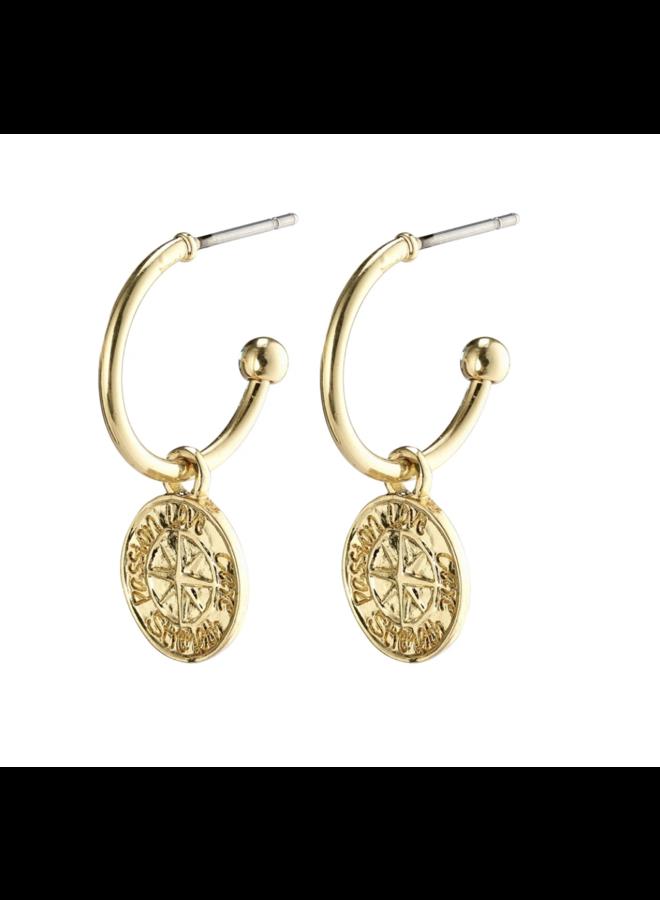Pilgrim earrings Gerda gold plated