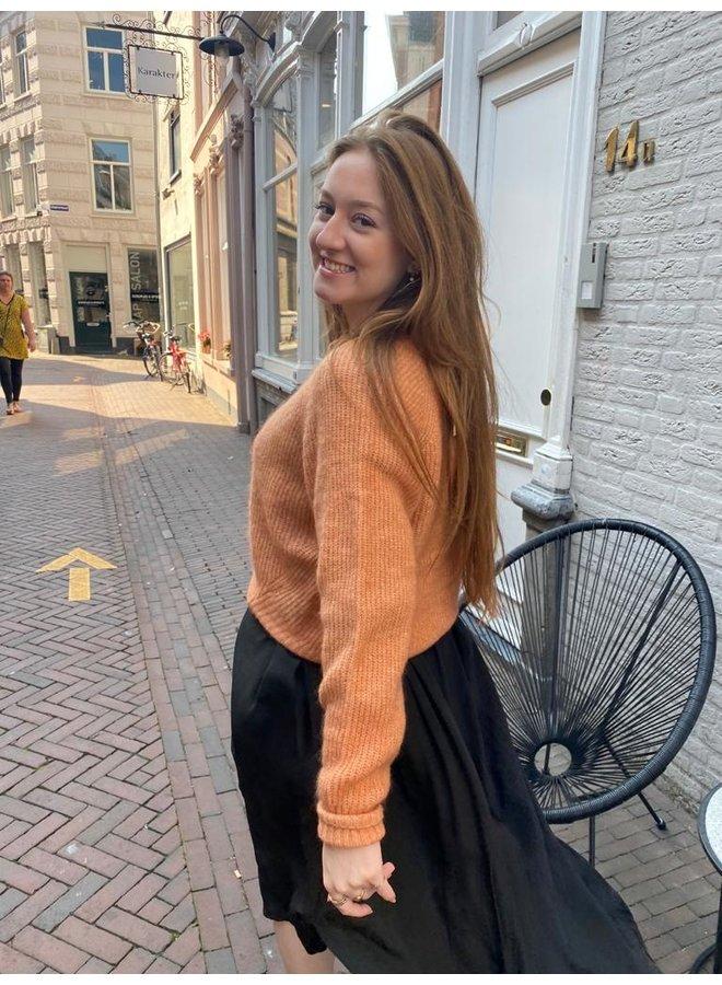 Second Female Brooky Knit Boxy Cardigan Toasted Nut