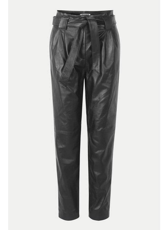Just Female Nago Leather Trousers Black