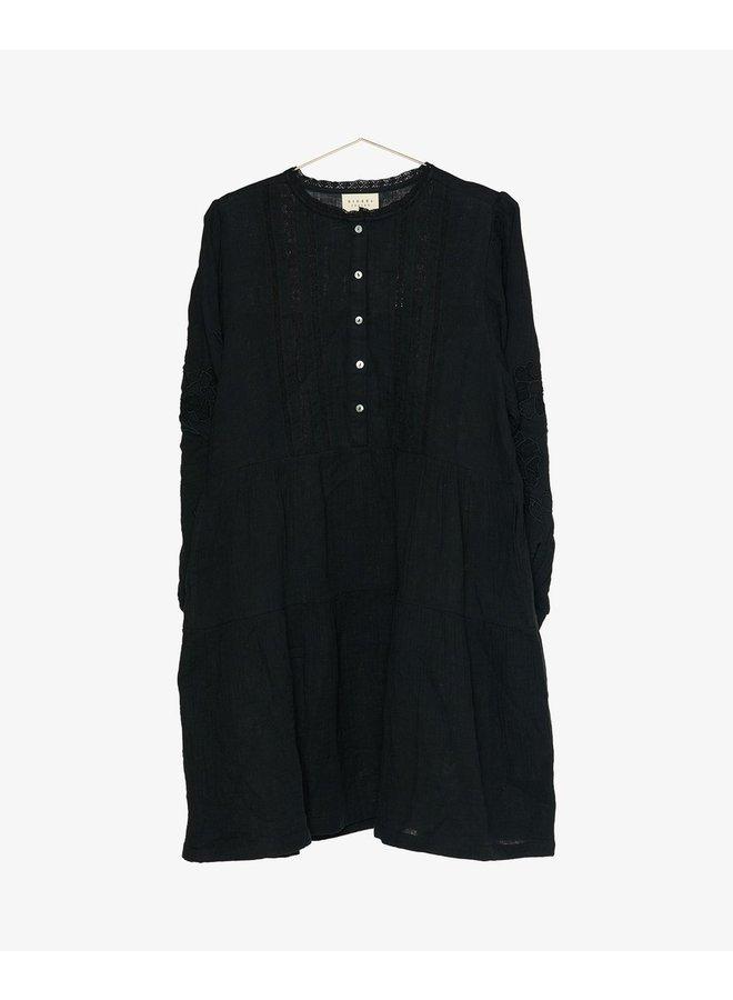 Sissel Edelbo Moss Short Dress Organic Cotton Black