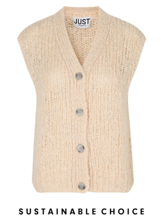 Just Female Erida Knit Vest Buttercream