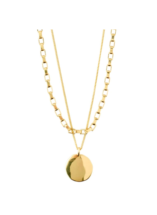 Pilgrim Clarity Cable chain 2-in-1 gold plated
