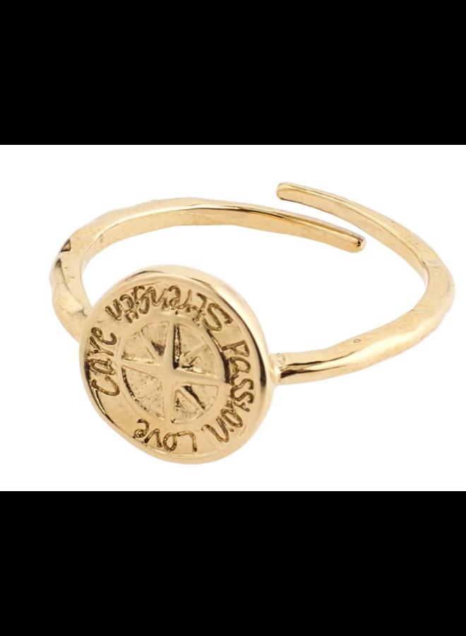 Pilgrim Gerda Ring Gold Plated