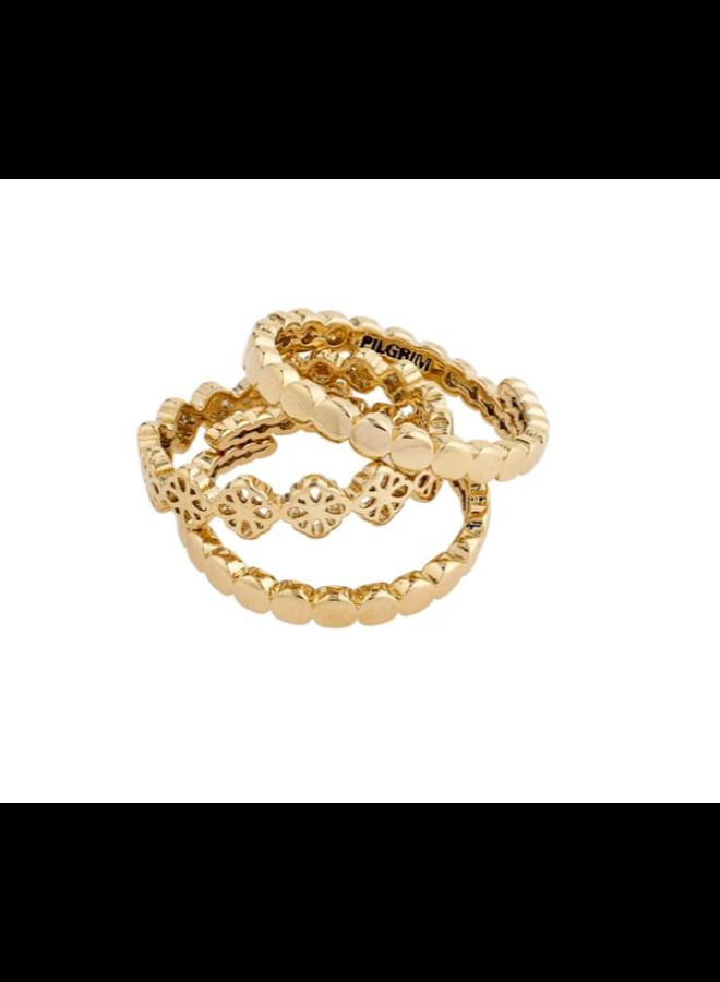 Pilgrim Cherished Ring Gold Plated