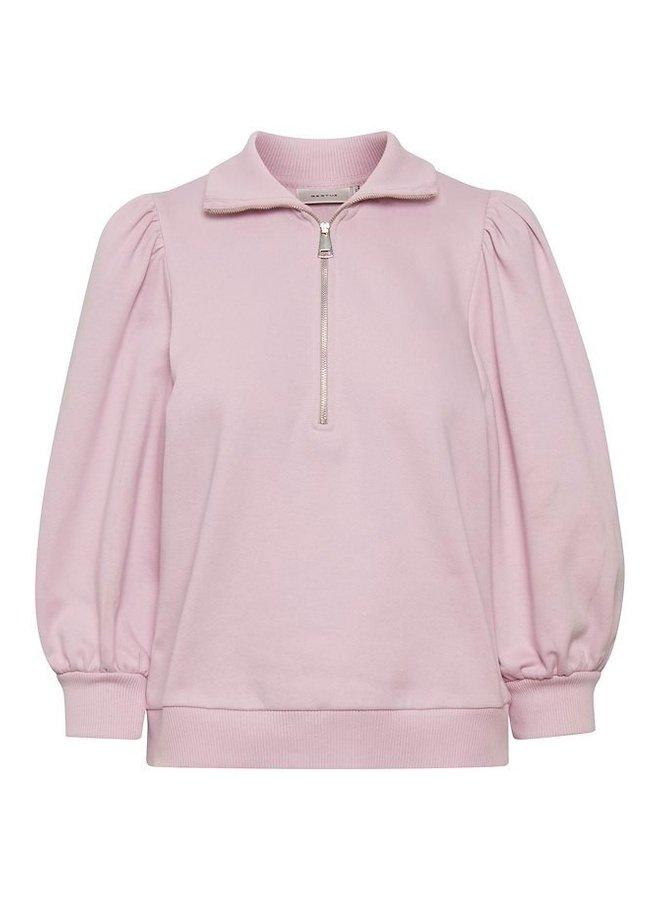 Gestuz Nankita Zipper Sweatshirt Light Pastel Lilac