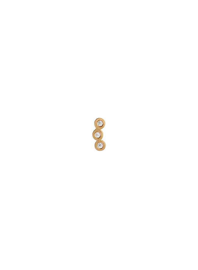 Stine A: Three Dots Earring Piece Gold