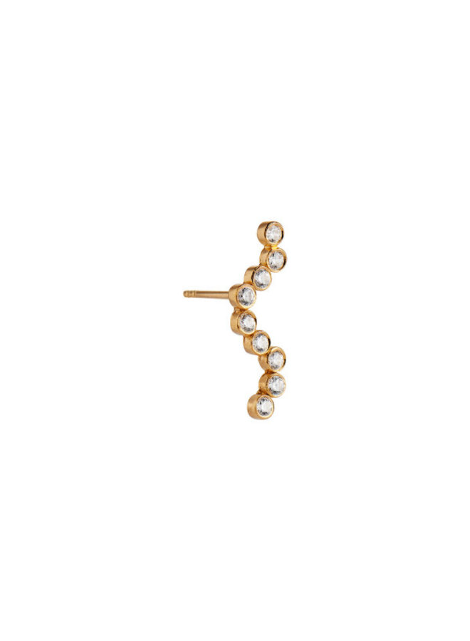 Stine A: Midnight Sparkle Small Earring Gold Left