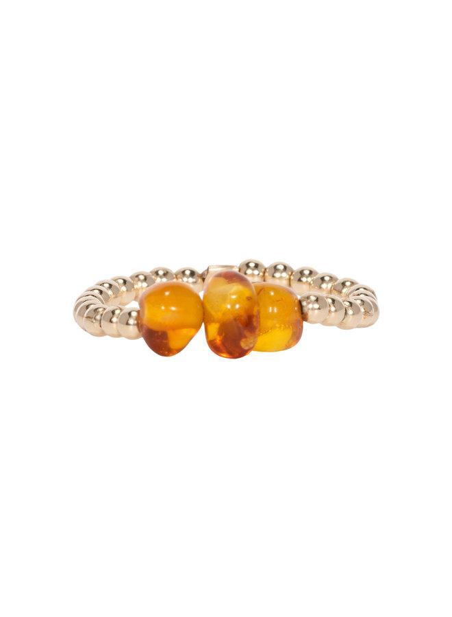 Miab ring goud - Amber Threesome