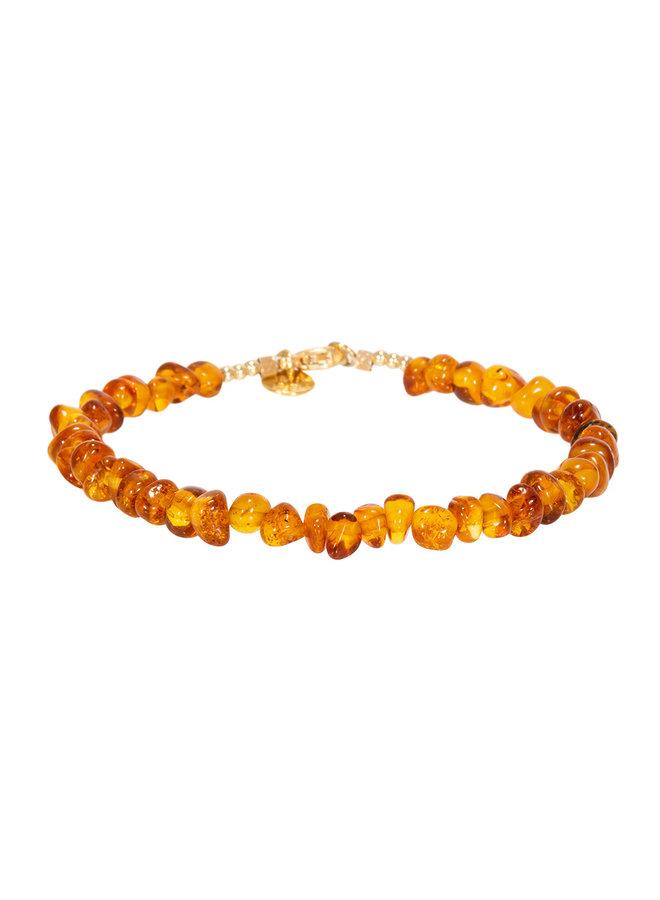 Miab armband goud - All Amber