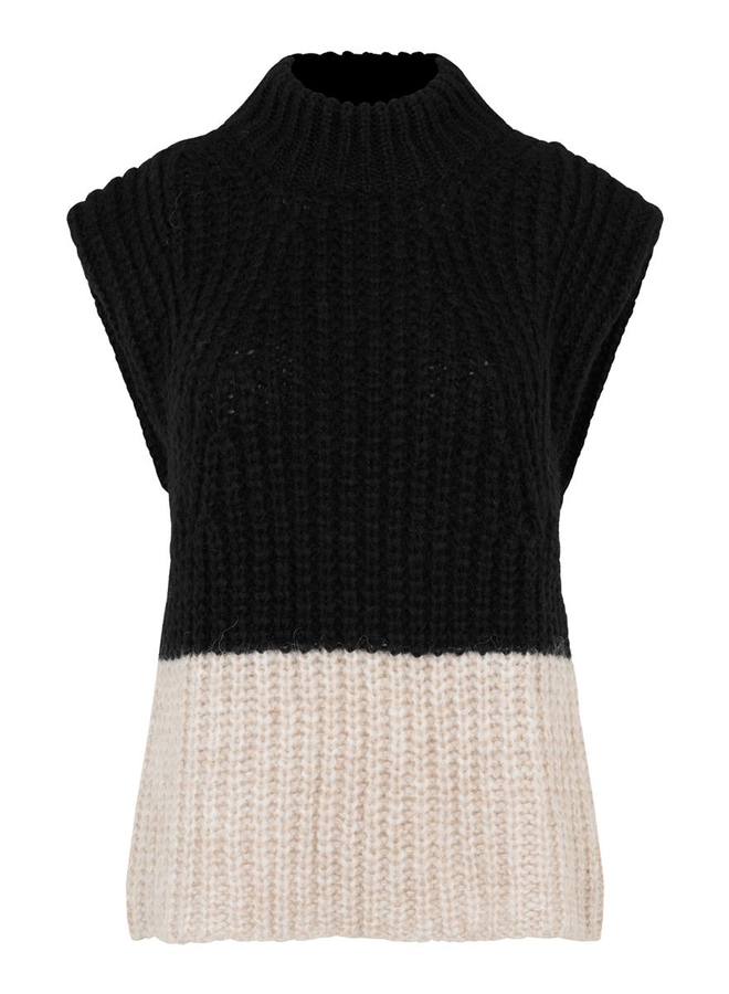 Second Female Ivy Knit Vest Black