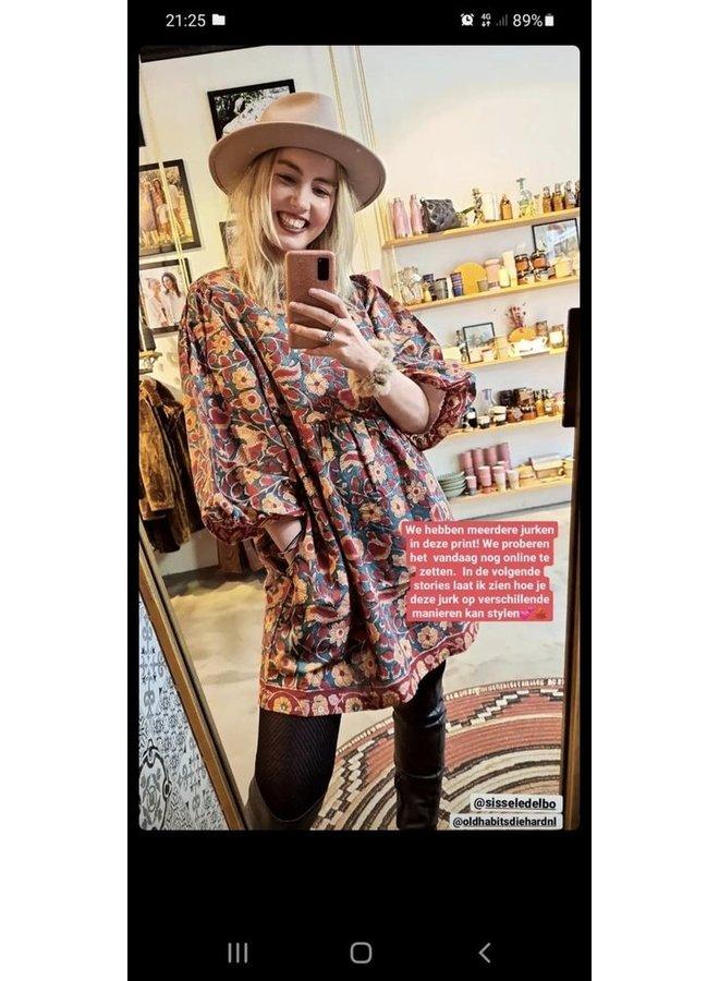 Sissel Edelbo Gigi Organic Cotton Short Dress - Ruby Blossom One Size
