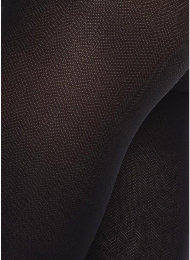 Swedish Stockings Nina Fishbone Tights Black