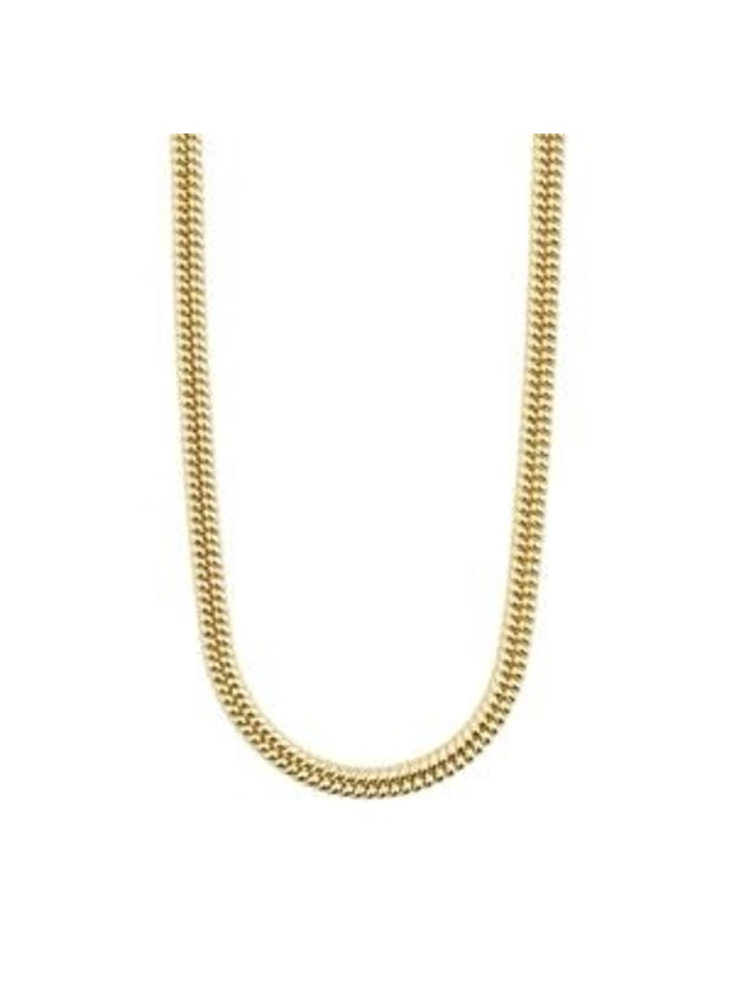 Pilgrim Belief Chunky Snake Chain Necklace Gold Plated
