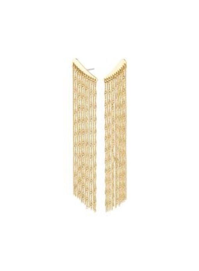 Pilgrim Leda Waterfall Earrings Gold Plated