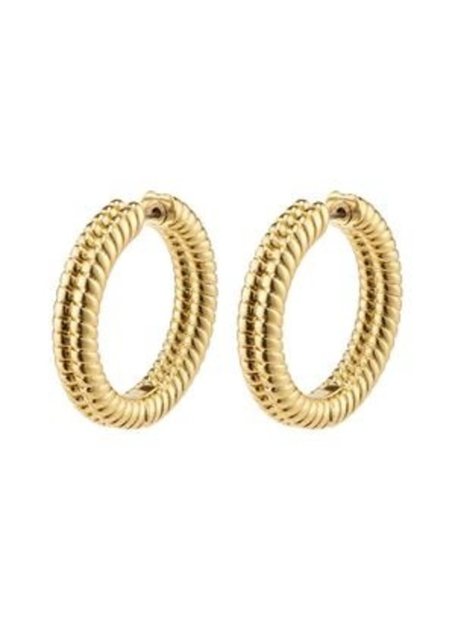 Pilgrim Belief Chunky Snake Chain Hoops Gold Plated