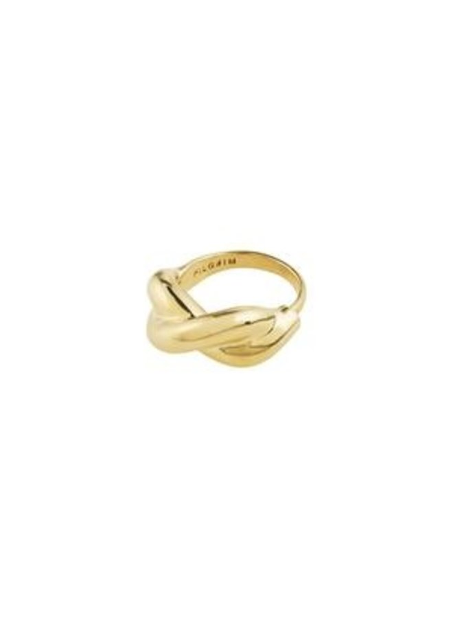 Pilgrim Belief Chunky Twist Ring Gold Plated