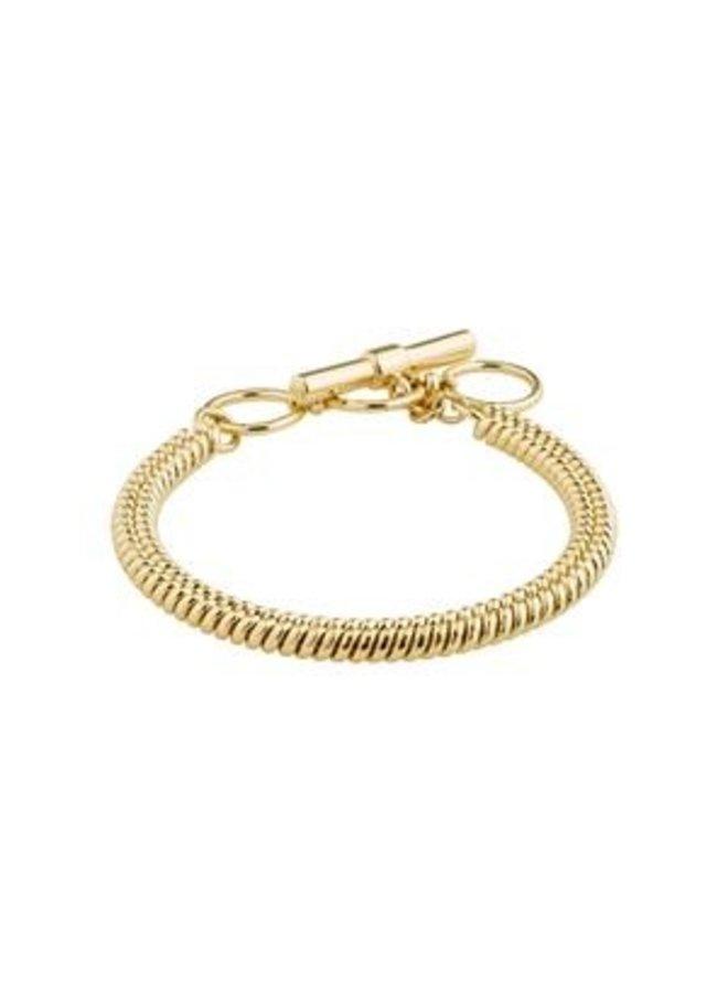 Pilgrim Belief Snake Chain Bracelet Gold Plated