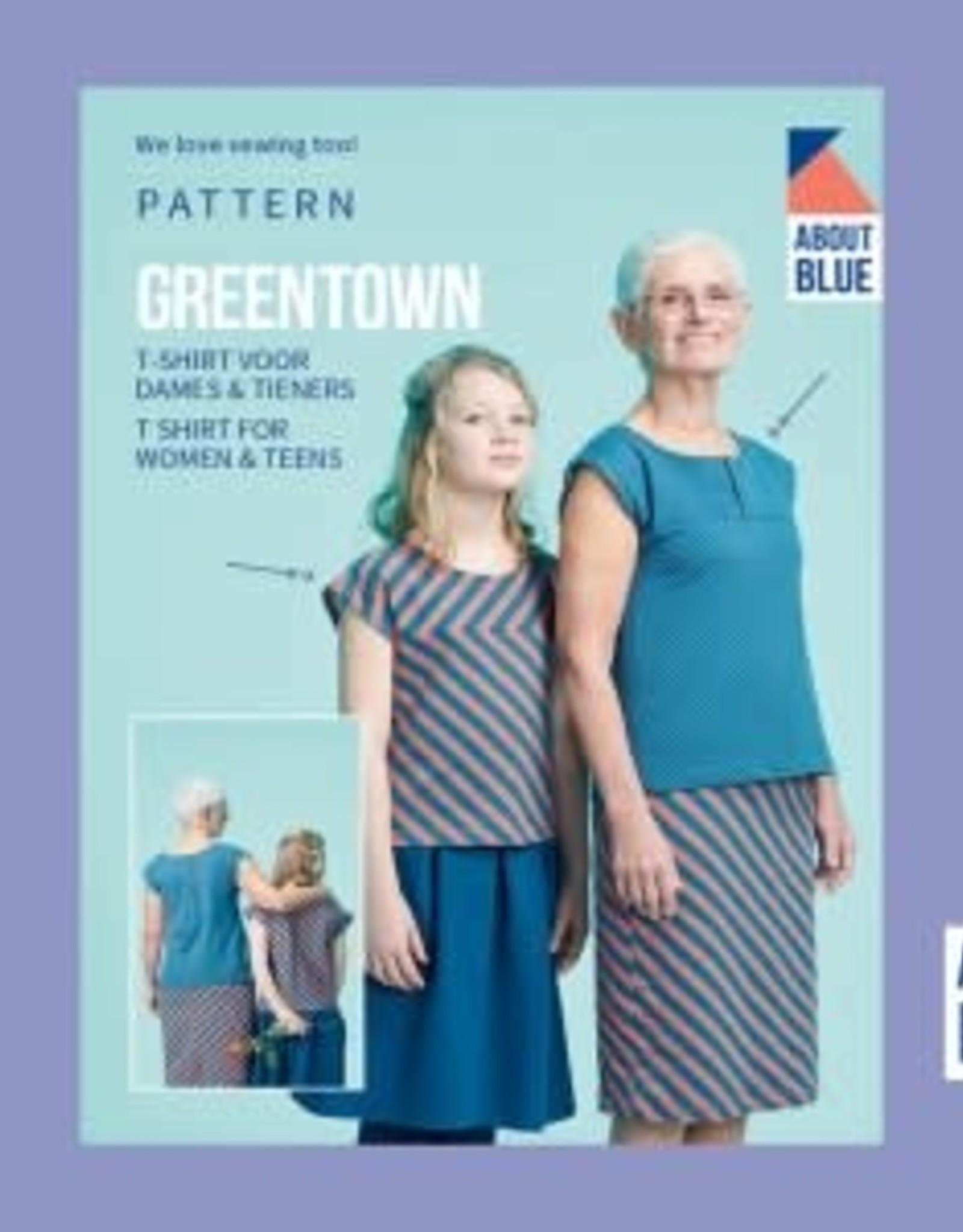 About Blue About Blue papieren naaipatroon Greentown t shirt volwassenen