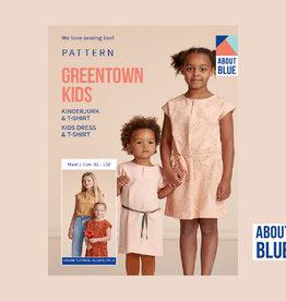 About Blue About Blue papieren naaipatroon Greentown t shirt en jurk kinderen